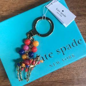 Rare Kate Spade Jeweled Camel Keychain